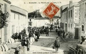 Marans - Le marché aux haricots. Marais poitevin