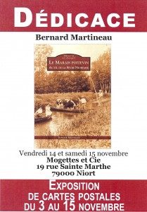 Dédicace du livre Le Marais poitevin au fil de la Sèvre Niortaise à Niort