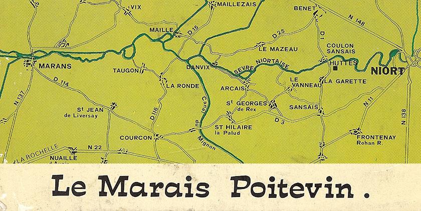Carte d'autrefois des communes du Marais Poitevin
