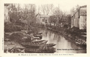 Damvix un coin typique du Marais poitevin