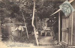 Cabane de Pêcheurs sur les bords de la sèvre à Sainte-Pezenne près de Niort