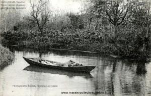 Vieux huttier chassant aux canards sauvages